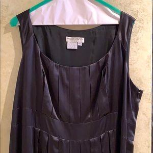 Maggie London 100% silk black cocktail dress. 14W